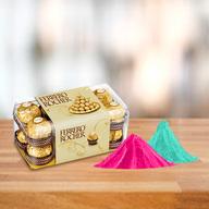 Ferrero Rocher Chocolate Box With Free Gulal