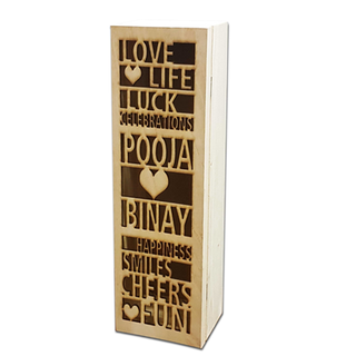 Personalised Wine Bottle Holder