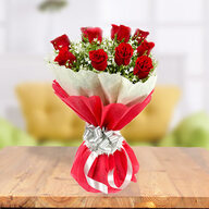 Valentine 12 Exclusive Red Roses Bunch