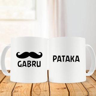 Valentine Gabru and Pataka Couple Mug