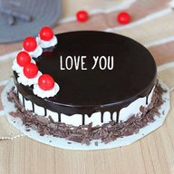 Valentine Cherry Bomb Black Forest Cake