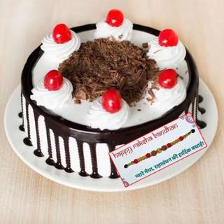 Black Forest Cake with Rakhi