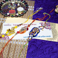 Colourful Pearl Rakhi Combo