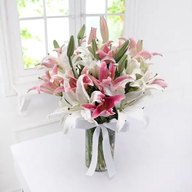 Mixed Lily In Vase
