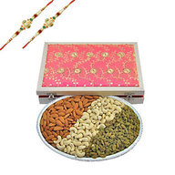 Rakhi with Mix Dry Fruits 3 in 1