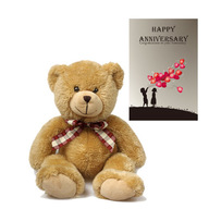 Teddy With Anniversary Card
