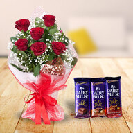 Red Roses and Dairy Milk Silk