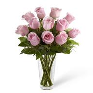 Valentine Pink Roses Vase