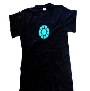 LED TShirt Blue Print