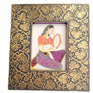 Ethnic Brass Photo Frame