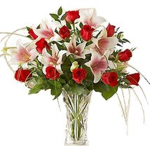 Lily & Roses Vase