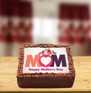 Chocolate Photo Cake for Mom