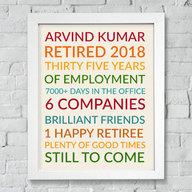 Retirement Colorful plaque