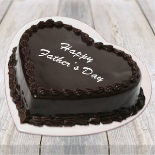 Father's Day Heart Shape Chocolate Truffle Cake