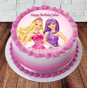 Send Barbie Happy Birthday Cake Online In India At