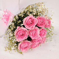 Valentine Pink Roses Bunch
