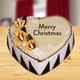 Christmas Heart Shape Cake