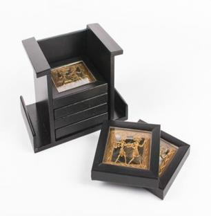 Dhokra Art Coaster Set