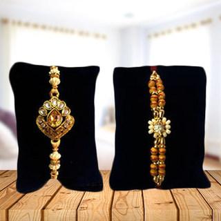 Set of 2 Rakhis-Golden