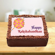 Rakhi Chocolate Photo Cake