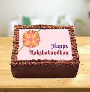 Rakhi Chocolate Photo Cake
