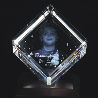 3D Crystal Cube- Medium