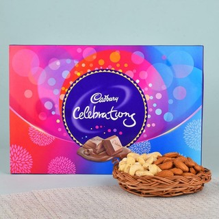 Dry Fruits Basket N Cadbury Celebrations