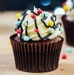 Choco Vanilla Cupcakes