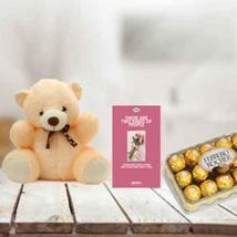Teddy, Chocolate & Card