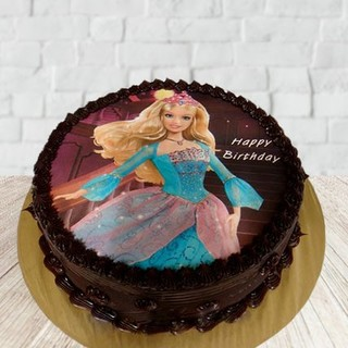 Send Choco Barbie Photo Cake Online In India At Indiagiftin