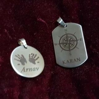 Name Metal Pendant