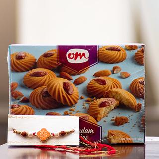 Ganesha Rakhi with Butter Cookies