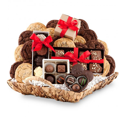 Basket of Chocolate & Cookies