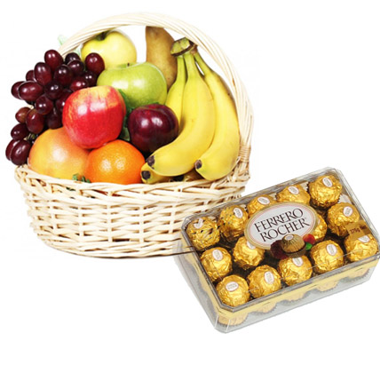 Fresh Fruits with Choclates