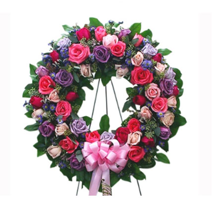 Mixed Roses Wreath