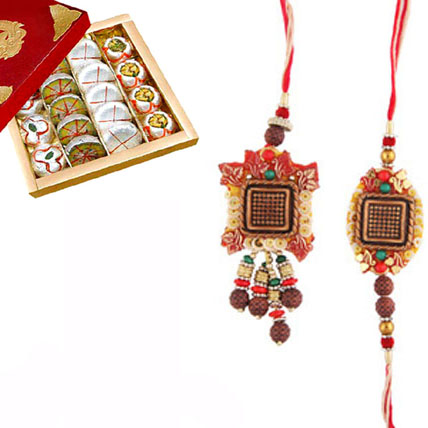 Rakhi & Lumba Set with Sweets