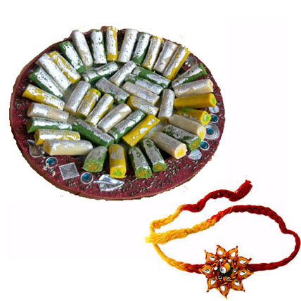 Kaju Roll with 2 Rakhis