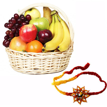 Fresh Fruits with 2 Rakhis
