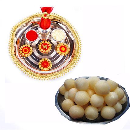 Rakhi Thali + Rasgulla with Rakhi