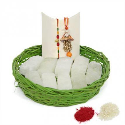 Petha Basket With Rakhi