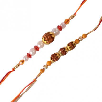 Set of 2 Rakhis - Rudraksha