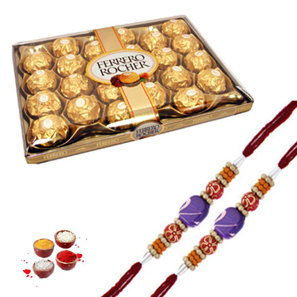 24 pc Ferrero Rocher with 2  Rakhis