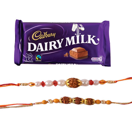 Dairy Milk with 2 Rakhi