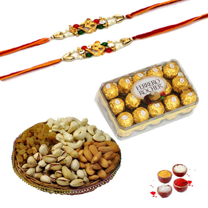 Chocolate, Dry Fruits with Rakhi
