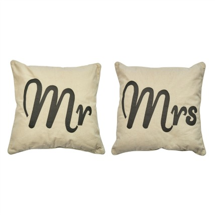 Mr & Mrs Matching Cushions