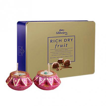 Rich Dry Fruit with Diyas