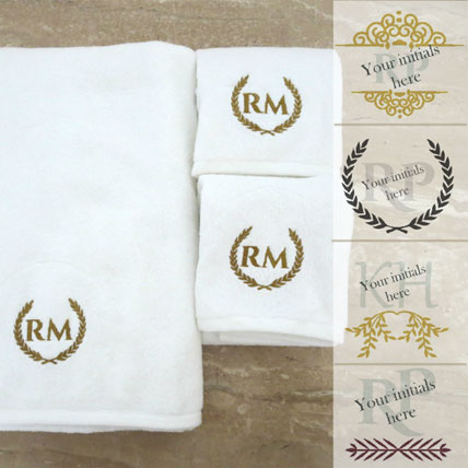 Personalised Monogrammed Towel Set