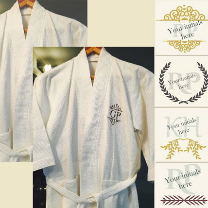 Personalised Monogrammed Bath Robes