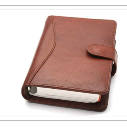 Leather Personal Planner-Brown