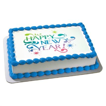 Happy New Year Photo Cake